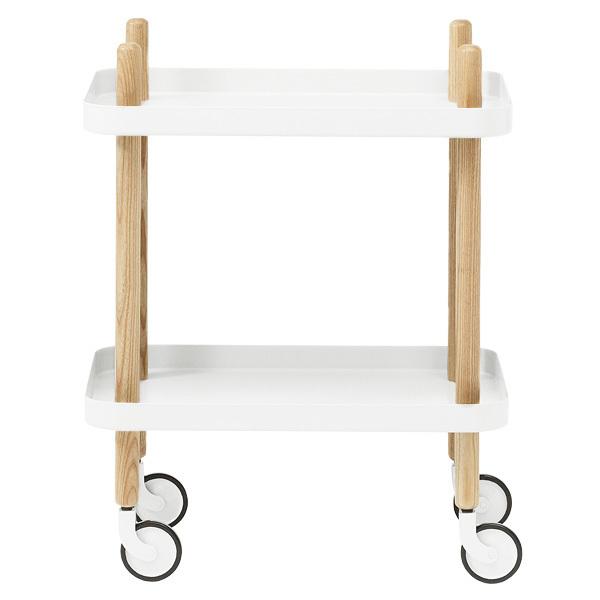 Normann Copenhagen Block table trolley, white
