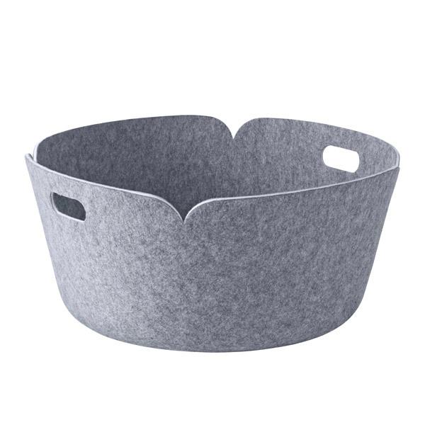 Muuto Restore round basket, grey