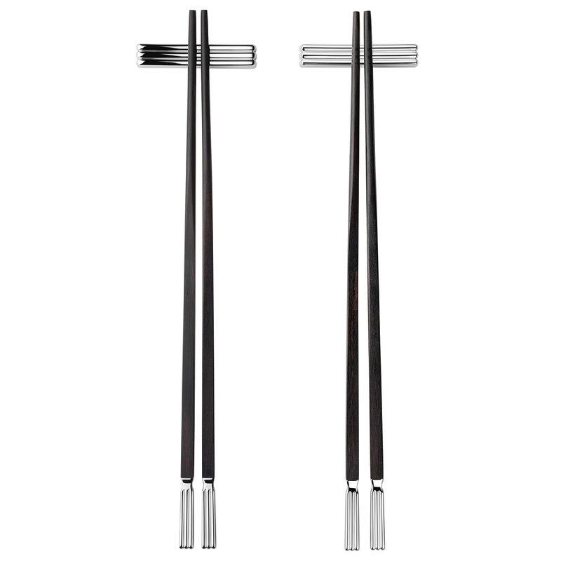 Georg Jensen Bernadotte chopsticks with rest, 2 pcs