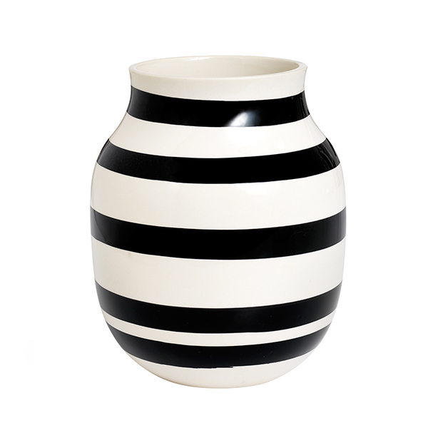 Kähler Omaggio vase, medium, black