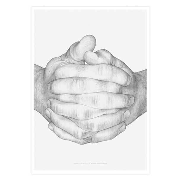 Paper Collective Folded Hands poster 30 x 40 cm