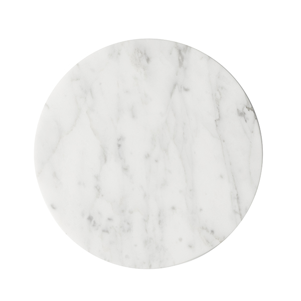 Menu Wire Top, white marble