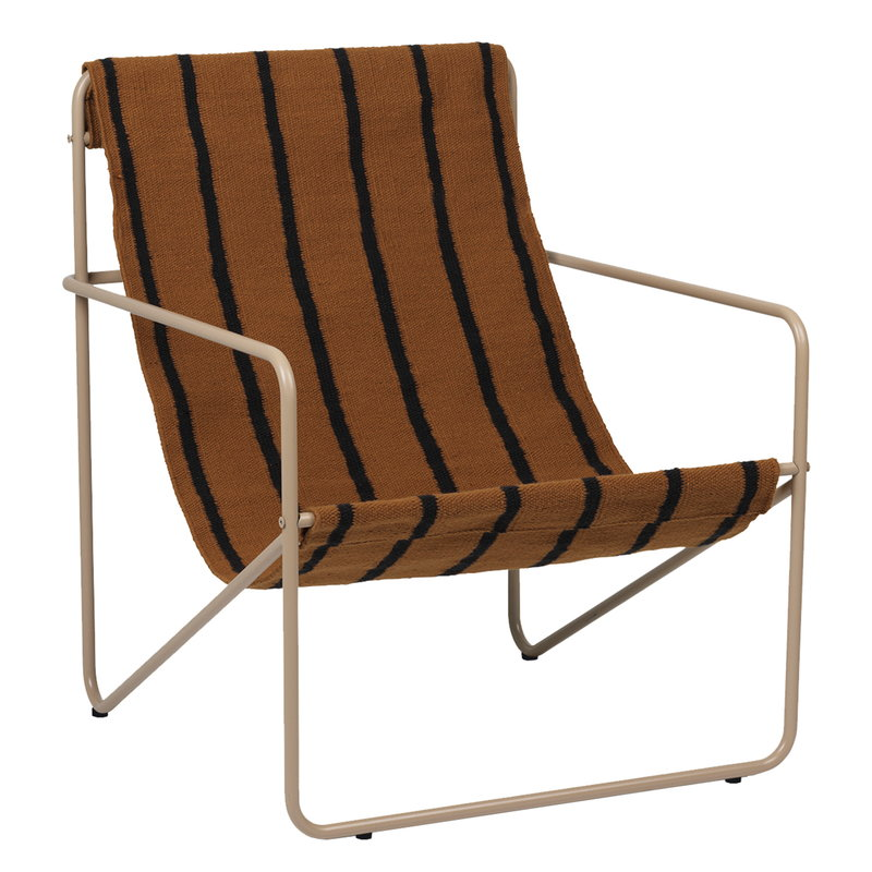 Ferm Living Desert lounge chair, cashmere - stripes