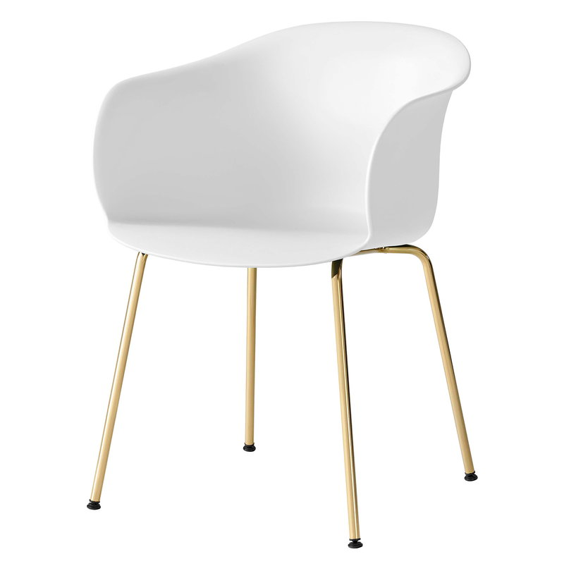 &Tradition Elefy JH28 chair, white - brass