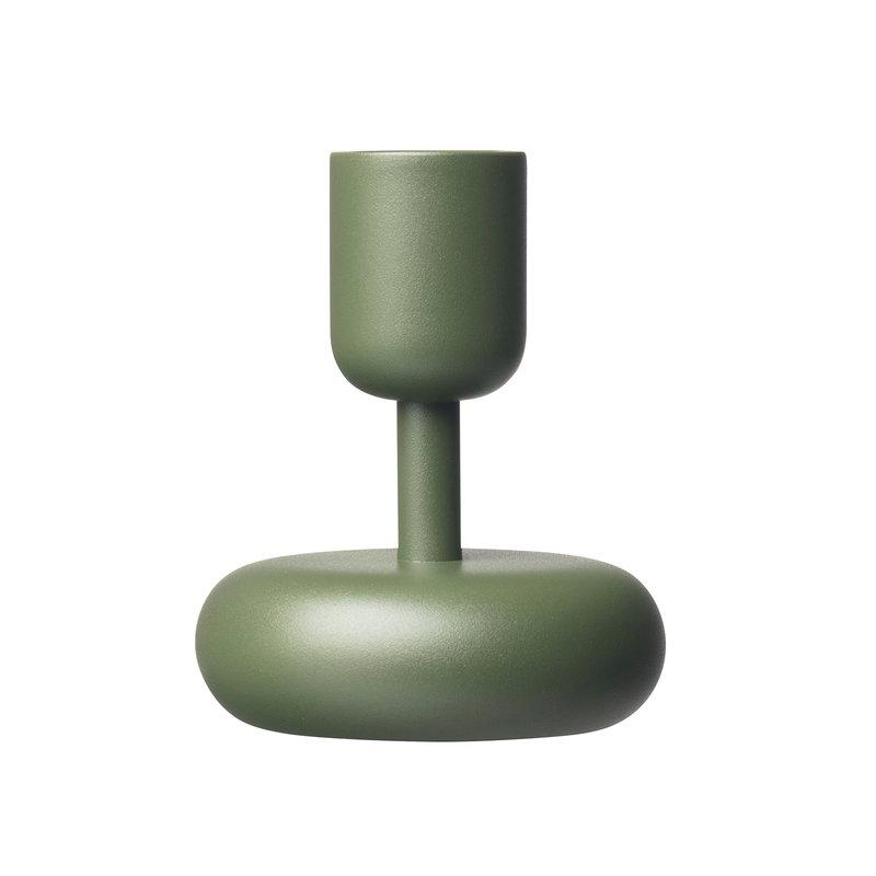 Iittala Nappula kynttilänjalka 107 mm, sammaleenvihreä