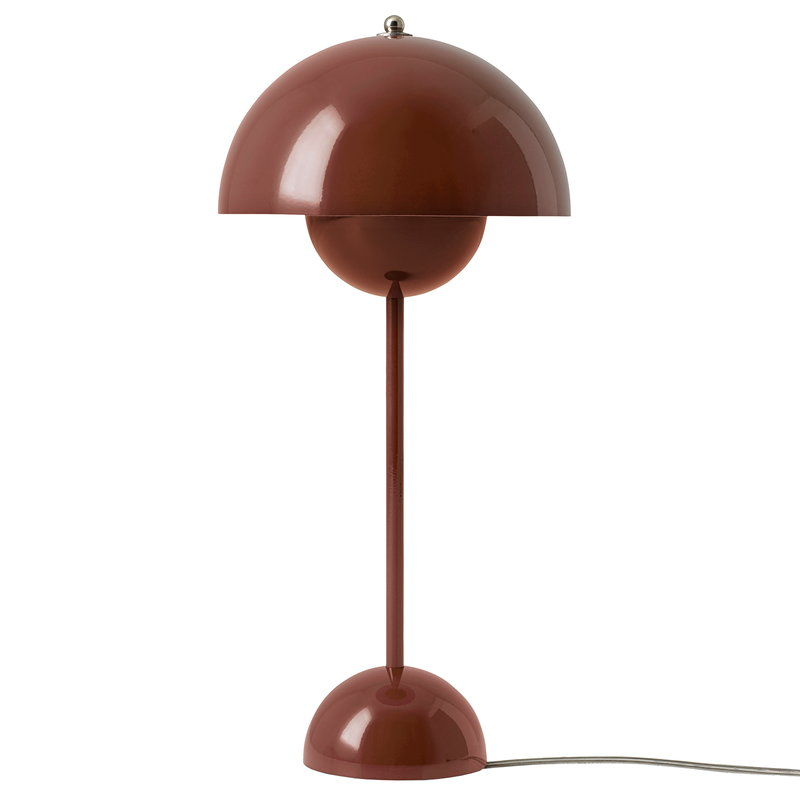 &Tradition Flowerpot VP3 table lamp, red brown