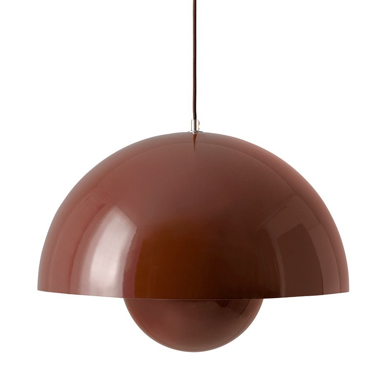 &Tradition Flowerpot VP2 pendant, red brown