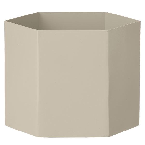 Ferm Living Hexagon pot XL, grey