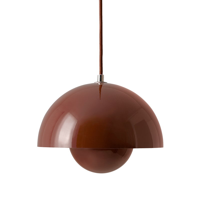 &Tradition FlowerPot VP1 pendant, red brown