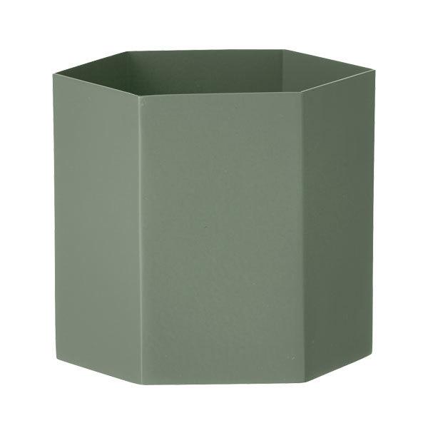 Ferm Living Vaso Hexagon, L, dusty green