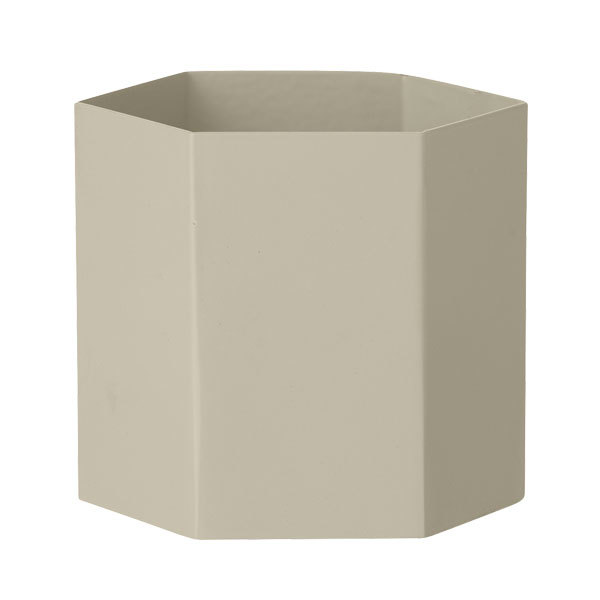 Ferm Living Hexagon pot L, grey