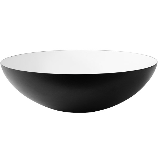 Normann Copenhagen Krenit bowl 7,1 l, black-white