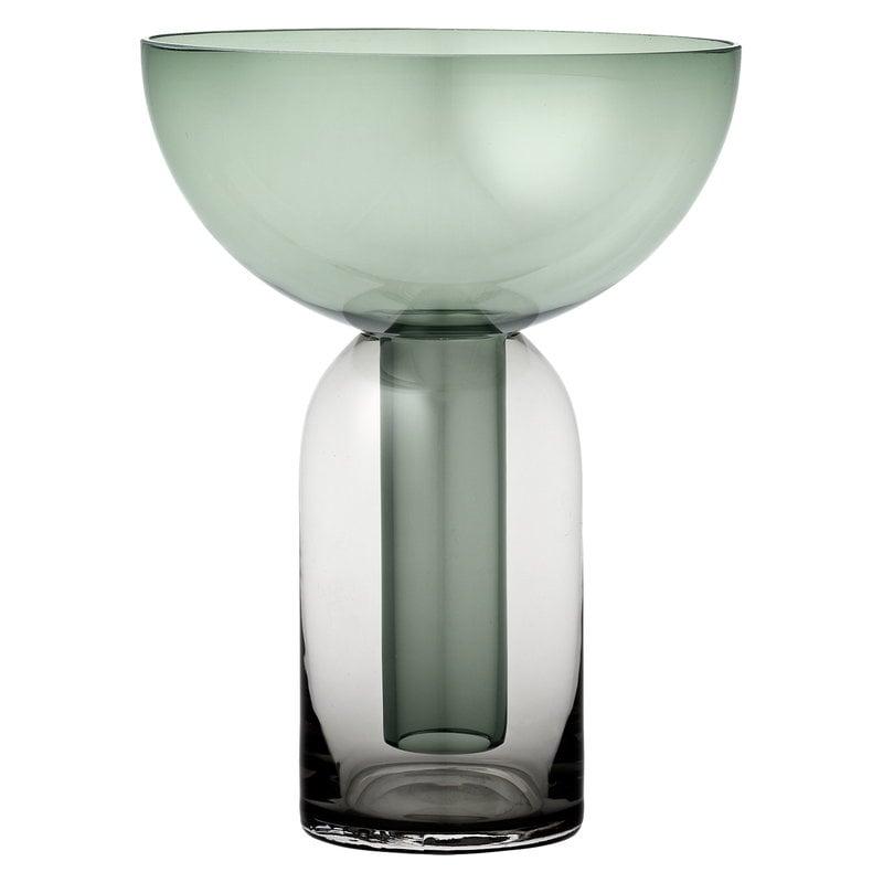 AYTM Torus vase, black - green