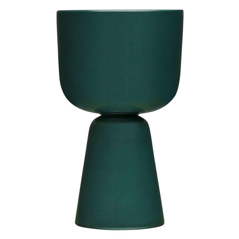 Iittala Nappula plant pot 260 x 155 mm, dark green
