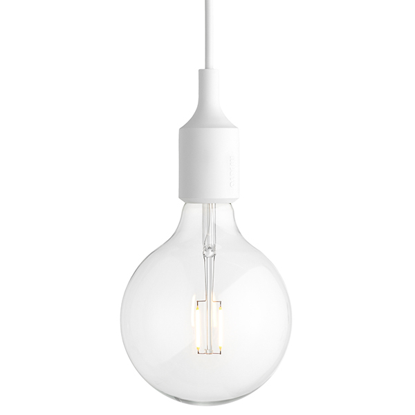 Muuto E27 LED socket lamp, white, without canopy