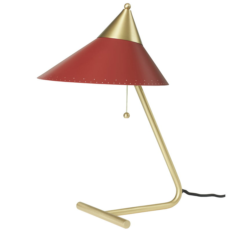 Warm Nordic Brass Top table lamp, red grape