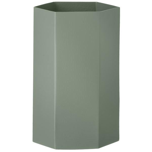 Ferm living hexagon vase dusty green finnish design shop for Ferm living vase