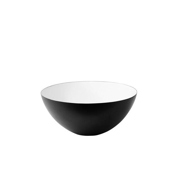 Normann Copenhagen Ciotola Krenit 30 cl, nero-bianco