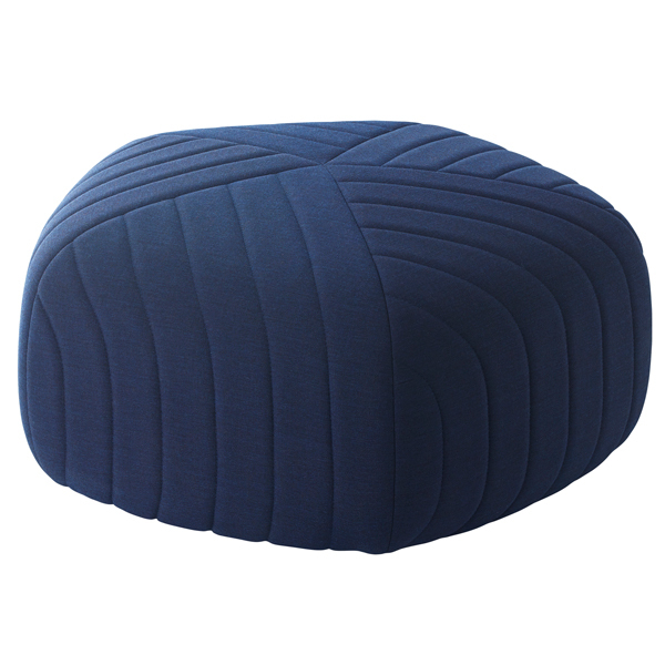 Muuto Pouf Five, blu scuro