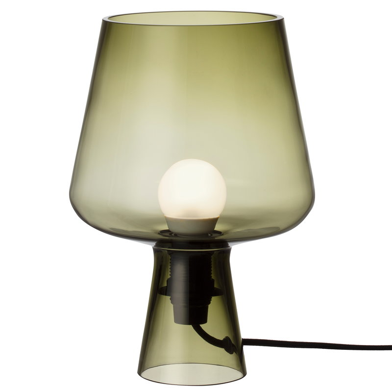 Iittala Leimu table lamp 24 cm, moss green