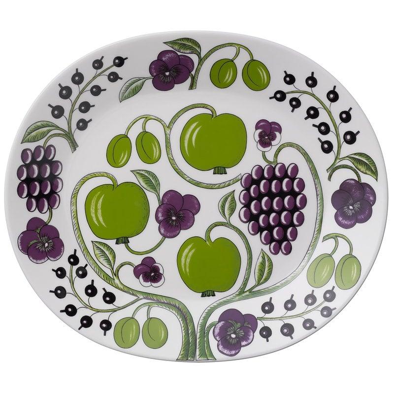 Arabia Paratiisi serving platter 36 cm, purple