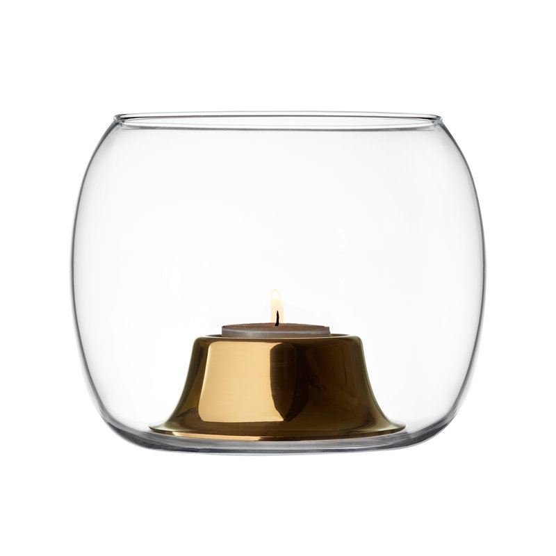 Iittala Kaasa tealight holder, clear - rose gold