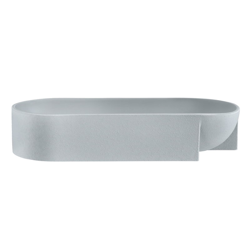 Iittala Kuru ceramic bowl 370 x 75 mm, light grey
