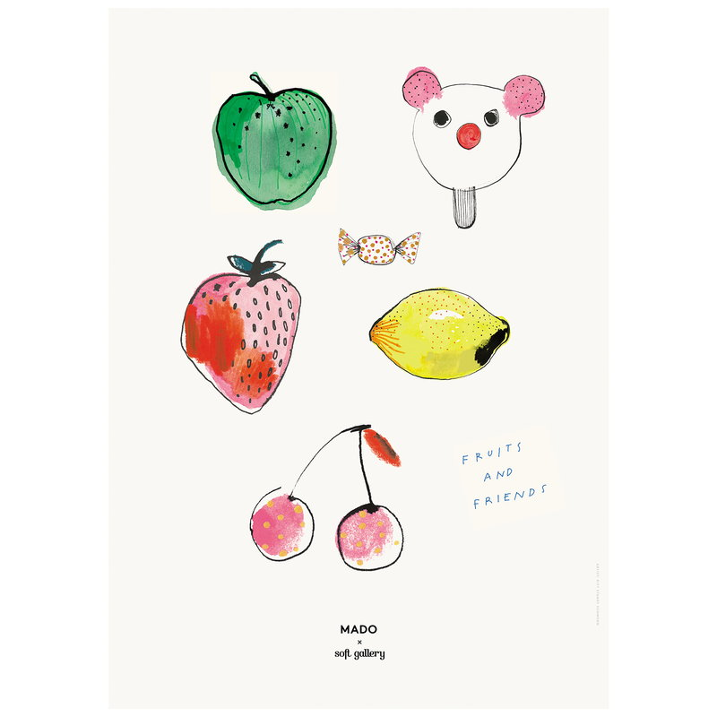 MADO Fruits & Friends juliste 50 x 70 cm