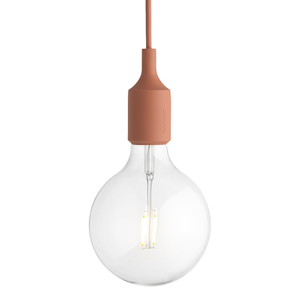 Muuto E27 LED socket lamp, terracotta