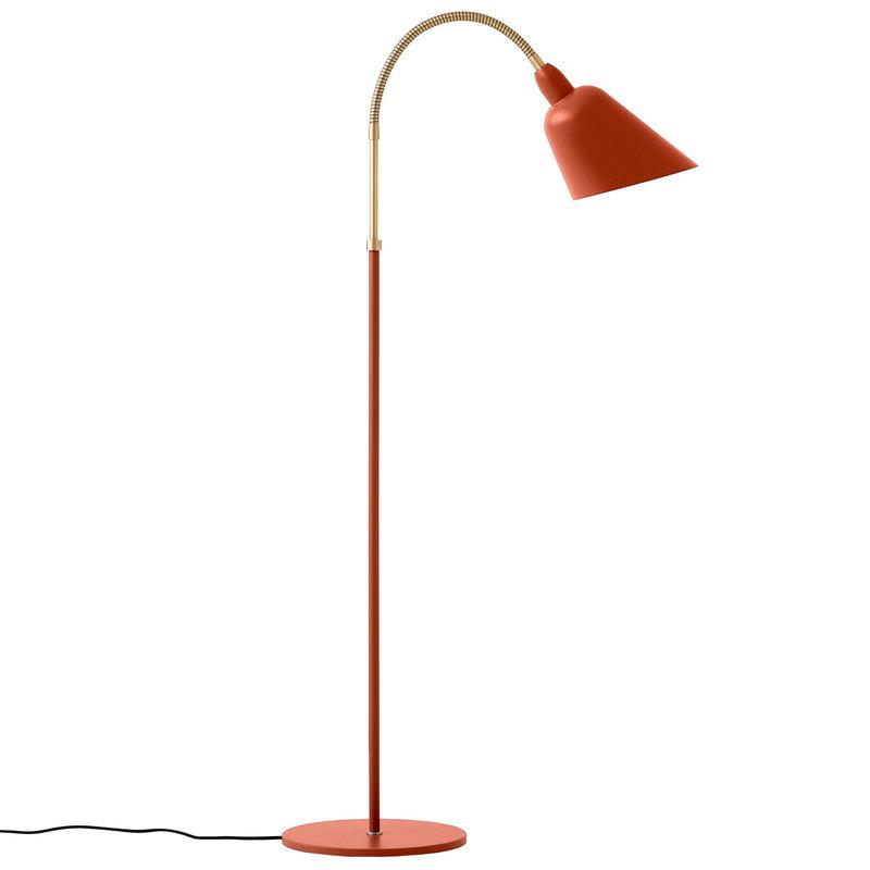 &Tradition Bellevue AJ7 floor lamp, copper brown - brass