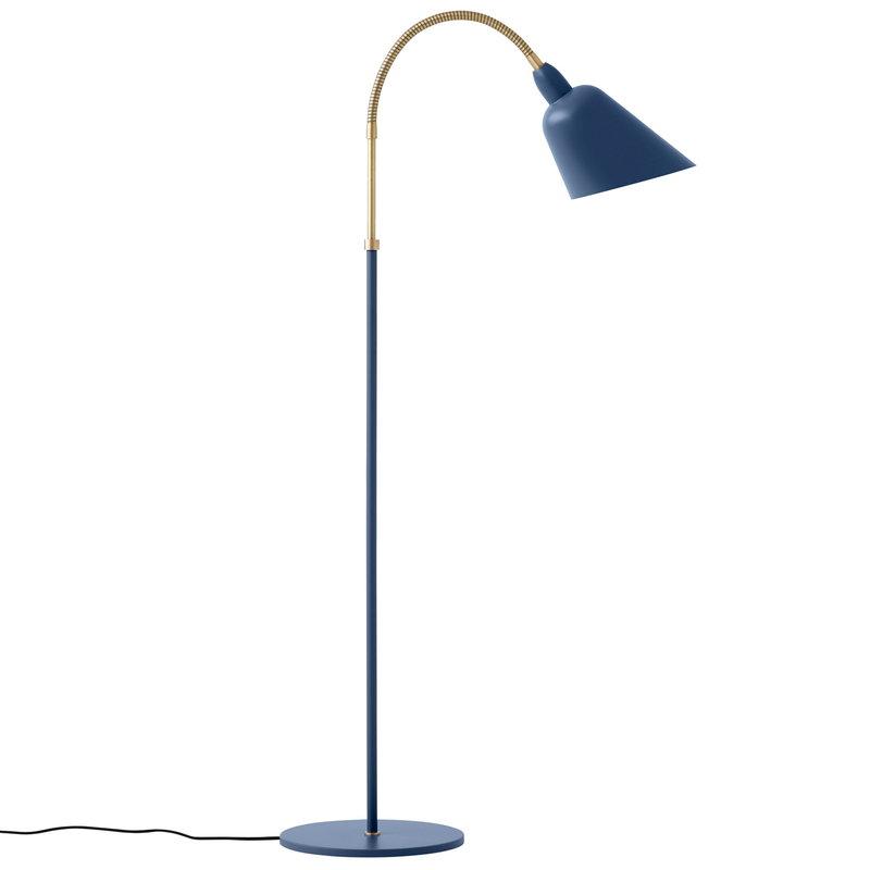 &Tradition Lampada da terra Bellevue AJ7, thunder blue - ottone