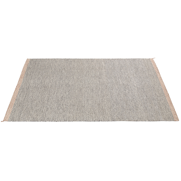 Ply rug, black - white