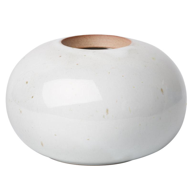 Fritz Hansen CM earthenware vase, round, pale grey