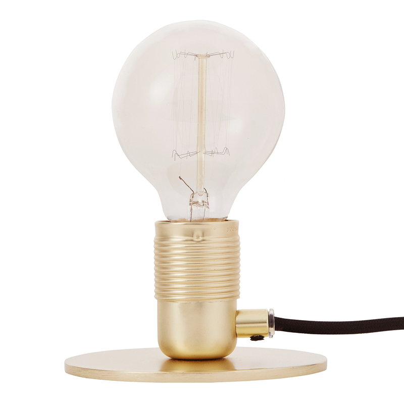 Frama E27 table light, brass