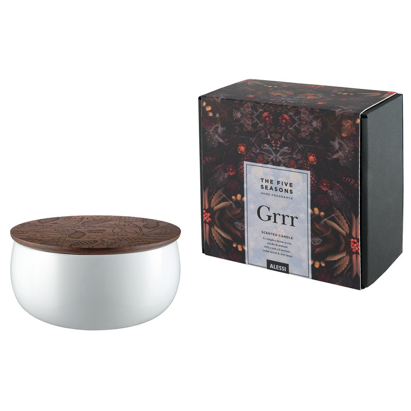 Alessi The Five Seasons scented candle, large, Grrr