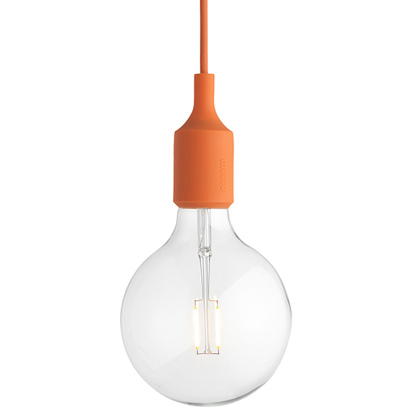 Muuto E27 LED socket lamp, orange