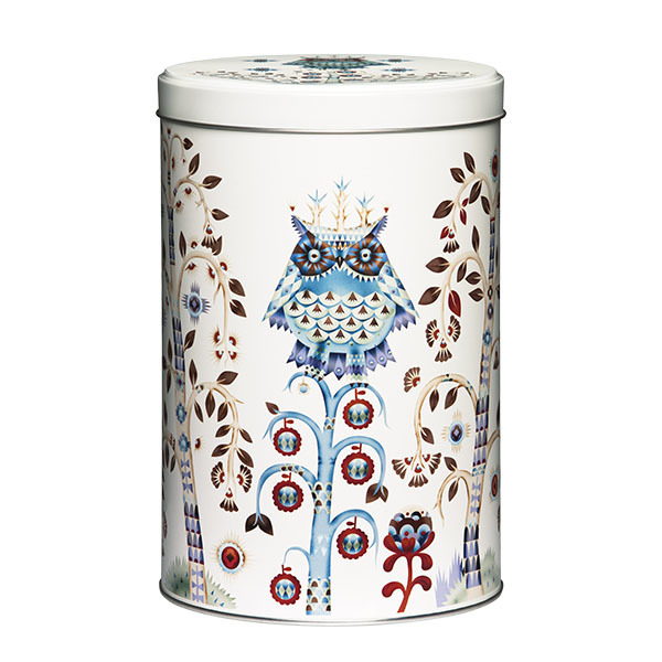 Iittala Taika tin jar 128x195 mm, white