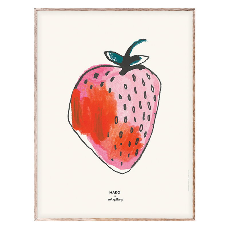 MADO Strawberry poster 30 x 40 cm