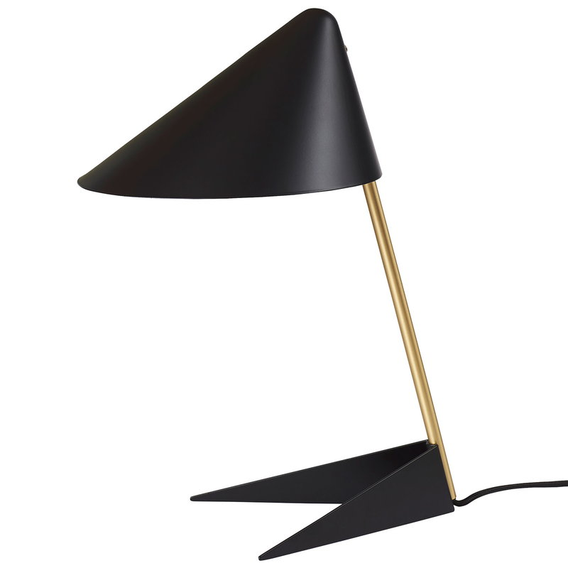 Warm Nordic Ambience table lamp, black - brass