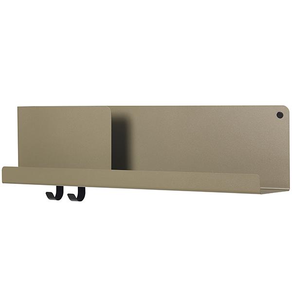 Muuto Folded shelf, olive, medium