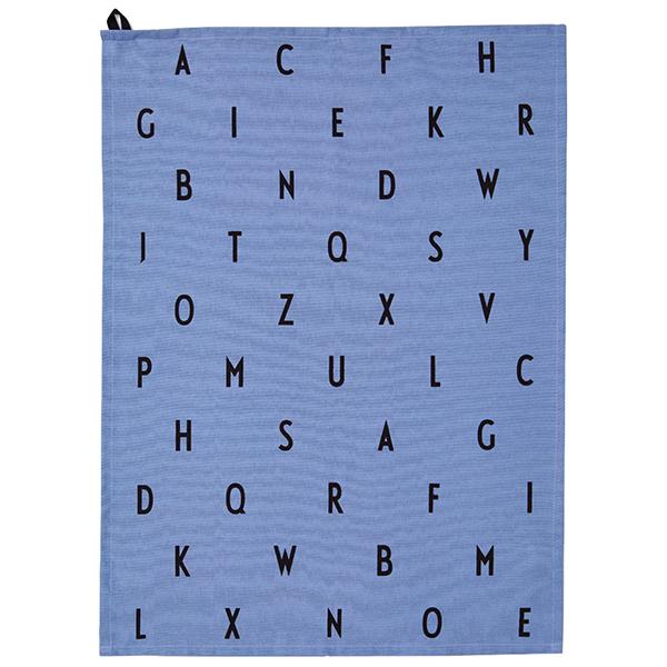 design letters arne jacobsen tea towel vintage abc blue finnish design shop. Black Bedroom Furniture Sets. Home Design Ideas