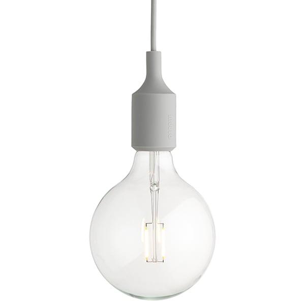 Muuto Lampada E27 LED, grigio chiaro