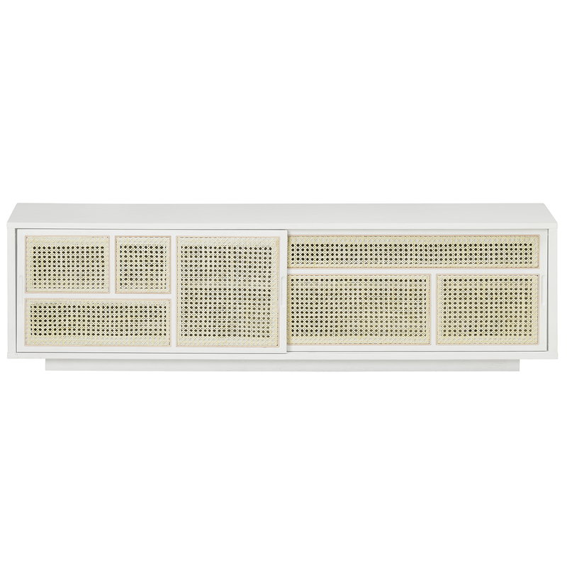 Design House Stockholm Air sideboard, low, white - cane