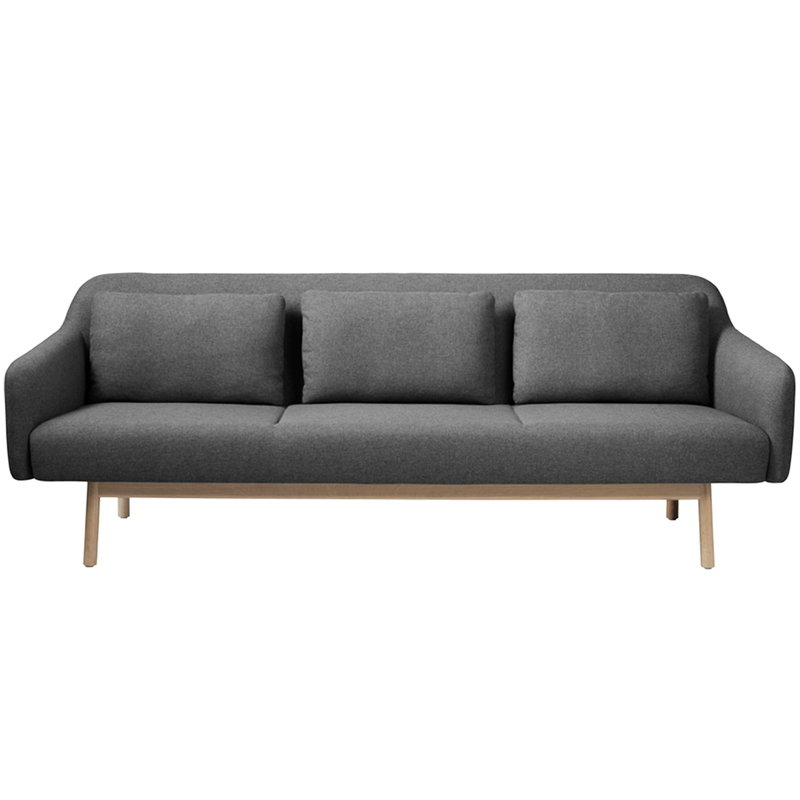 FDB Møbler L34 Gesja sofa, 3-seater, dark grey