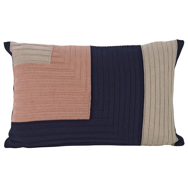 Ferm Living Angle Knit tyyny, tummansininen