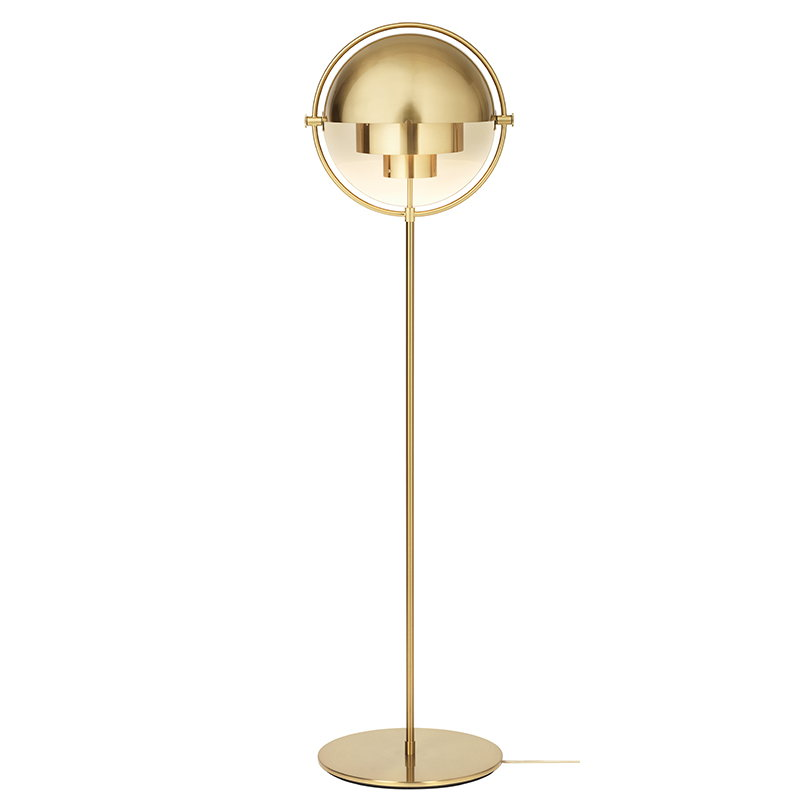 Multi lite floor lamp brass