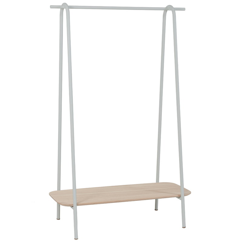 Harto Lucien clothes rack, oak - light grey