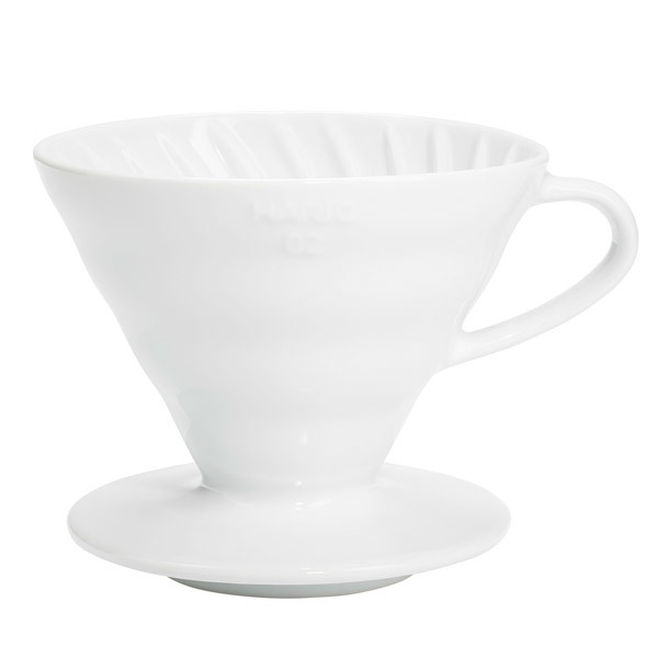 Hario Hario V60 coffee dripper size 02, white porcelain