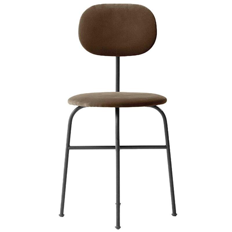 Menu Afteroom Plus dining chair, City Velvet CA7832/078 - black steel