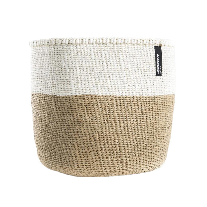 Mifuko Kiondo basket S, white - natural
